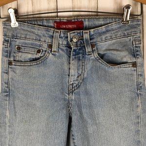 Levis 519 Low Stretch Jr Light Wash Jeans